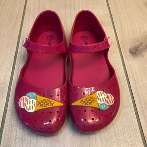 Pink Jelly Type Shoes